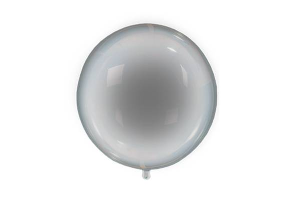 GLOBO PVC TRANSPARENTE + LED MULTICOLOR - 24 PULGADAS
