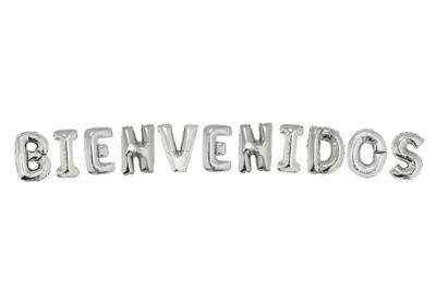 BIENVENIDOS PLATEADO - 14 PULGADAS